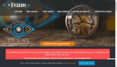 Site internet de Eyescape