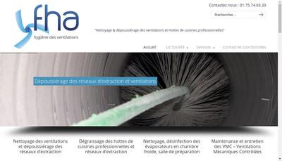 Site internet de France Hygiene Aeraulique