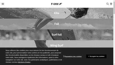 Site internet de F One