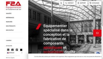 Site internet de F2A