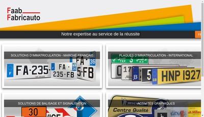 Site internet de Faab Fabricauto