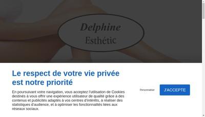 Site internet de Delphine Esthetic'