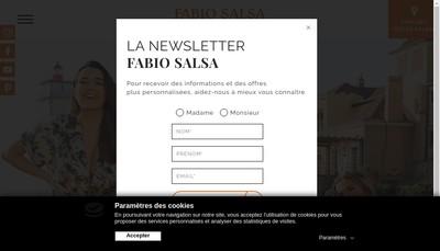 Site internet de Fabio Salsa