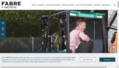 Site internet de Fabre Manutention SAS