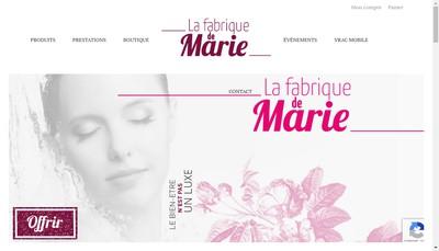 Site internet de La Fabrique de Marie
