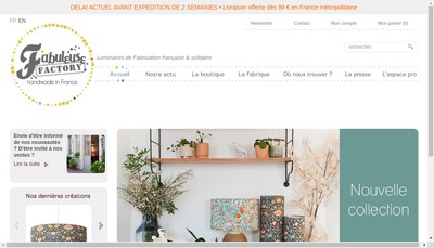 Site internet de Fabuleuse Factory