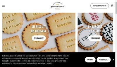 Site internet de Fabulous Biscuits