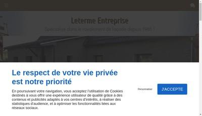 Site internet de Entreprise Leterme