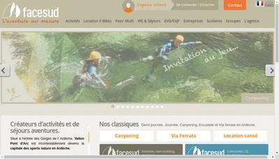 Site internet de SARL Face Sud Organisation