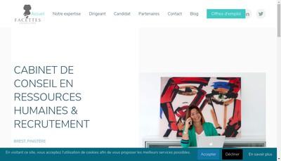Site internet de Facettes Consulting