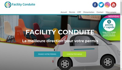 Site internet de Facility Conduite