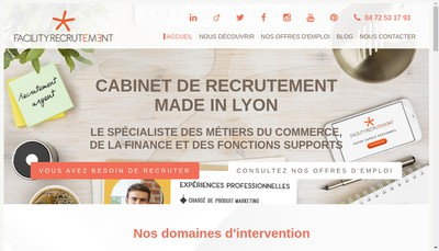 Site internet de Facility Carriere