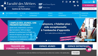 Site internet de Faculte des Metiers de l'Essonne