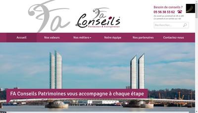 Site internet de Fa Conseils Patrimoines