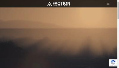 Site internet de Faction Audiovisual