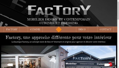 Site internet de Factory