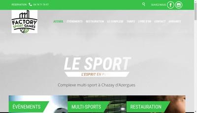 Site internet de Factory Sport Games
