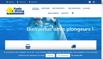 Site internet de E Fadis, Fadis Diving, Iap, Isovet