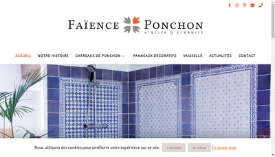 Site internet de Faience Ponchon