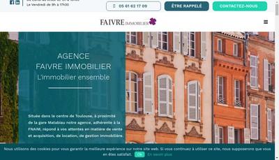 Site internet de Faivre Immobilier