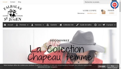 Site internet de Falbalas Saint Junien