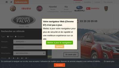 Site internet de Falvo Automobiles