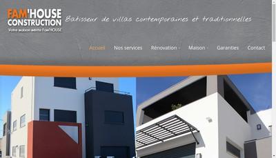 Site internet de Fam'House Construction