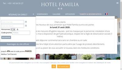 Site internet de Familia Hotel