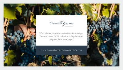 Site internet de Vignobles Michel Gassier - Henri Chastanier