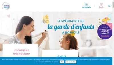 Site internet de Family Sphere
