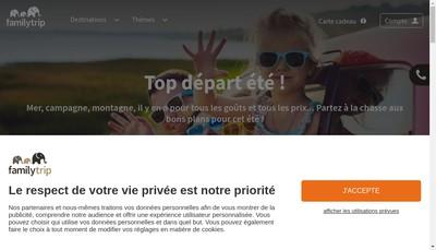 Site internet de Familytrip Fr