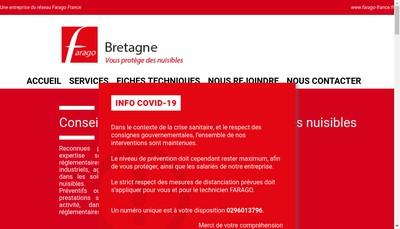 Site internet de Farago Bretagne