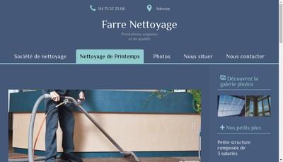 Site internet de CF Nettoyage