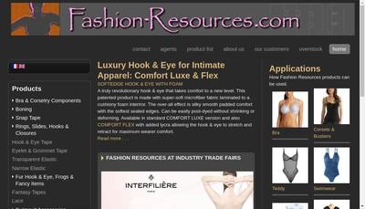 Site internet de Fashion Resources