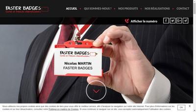 Site internet de SARL Faster Badges