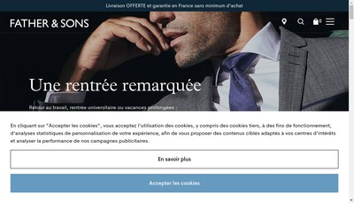 Site internet de Father And Sons