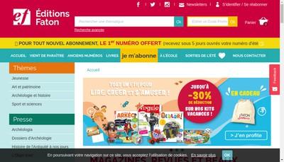 Site internet de Editions Faton