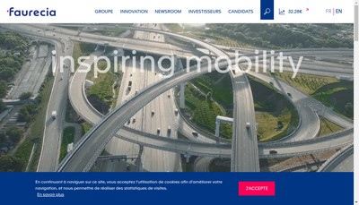Site internet de Faurecia Ventures