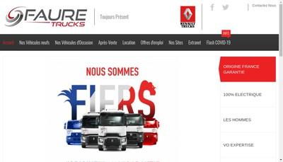 Site internet de Faure Trucks
