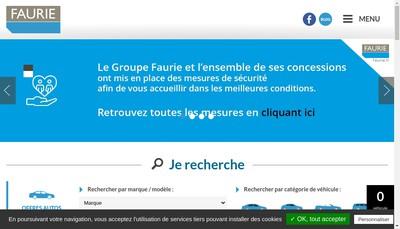 Site internet de Faurie Trucks Clermont-Ferrand