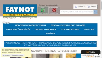 Site internet de Holding Faynot