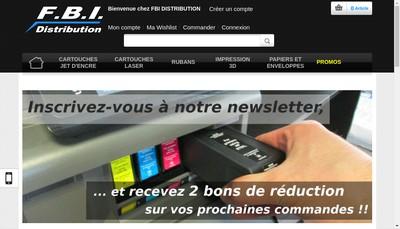 Site internet de Fbi Distribution