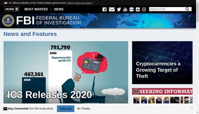 Site internet de FBI