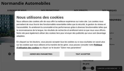 Site internet de Normandie Automobiles
