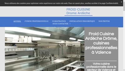 Site internet de Froid Cuisine Ardeche Drome