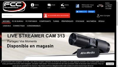 Site internet de Fcc Informatique