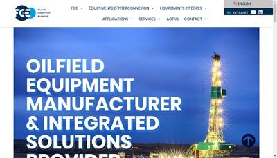 Site internet de Fluid Control Europe - Fce