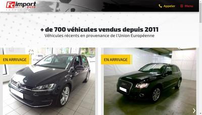 Site internet de FC Import Auto