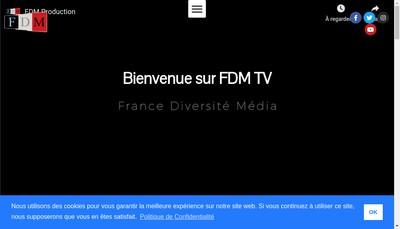 Site internet de France Diversite Media