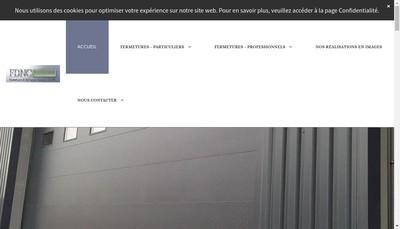 Site internet de Fermetures et Diffusion N Cesar